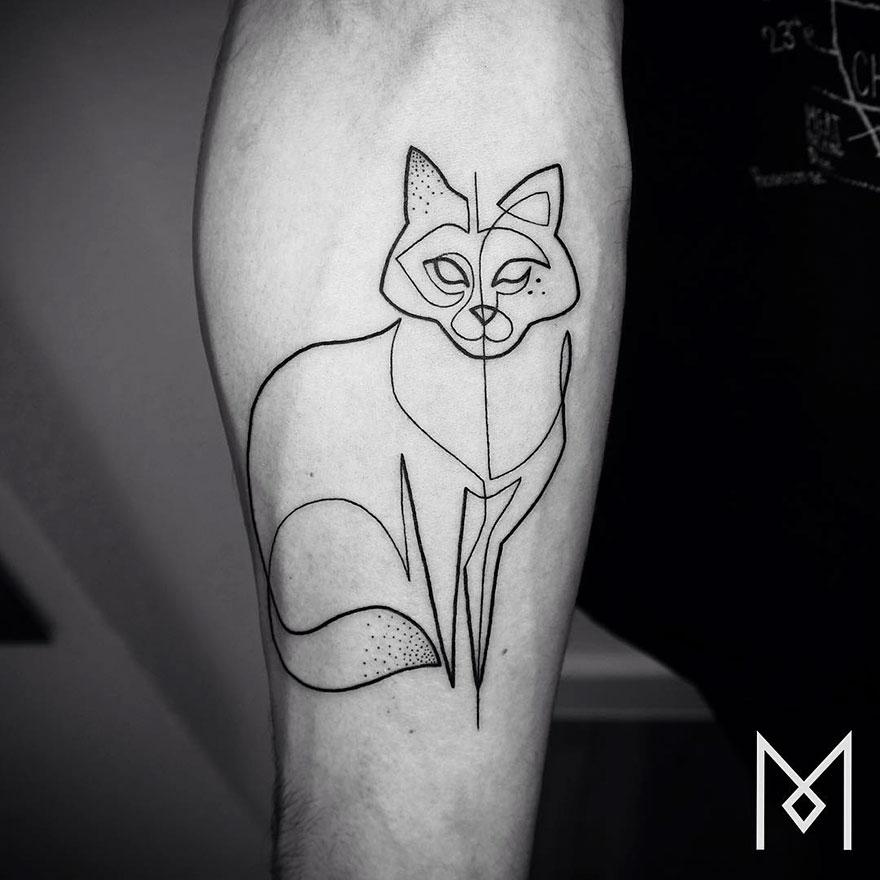 Famous Line Tattoo Artist : Minimalist single line tattoos by iranian german artist