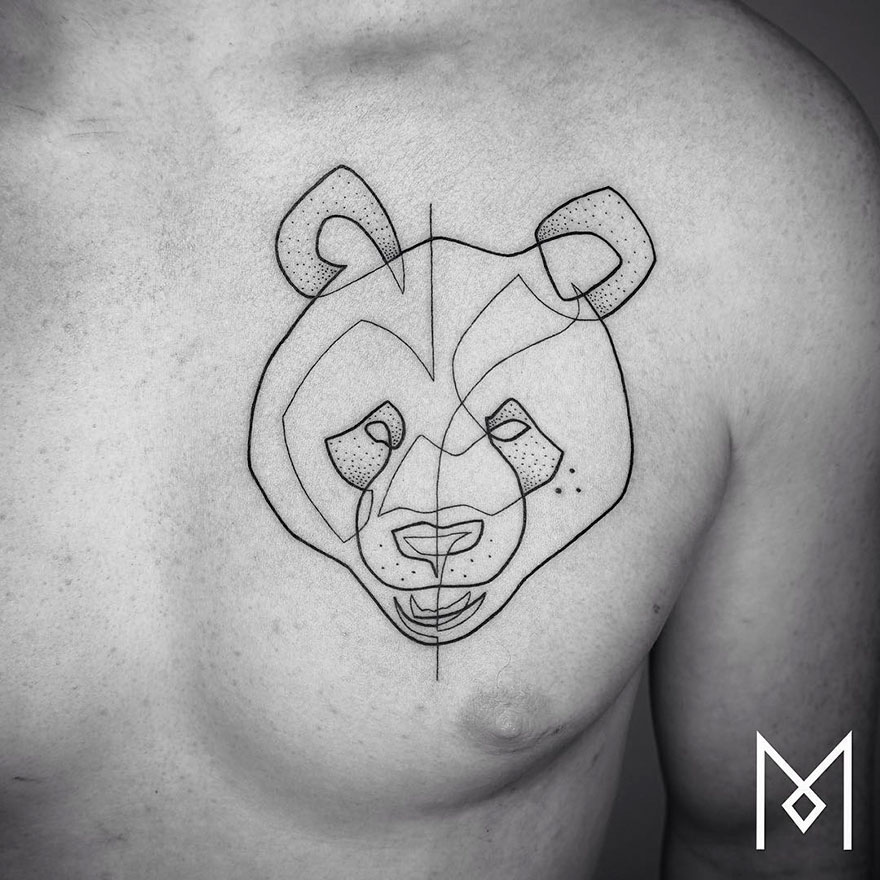 Single Line Drawing Tattoos : Minimalist single line tattoos by iranian german artist