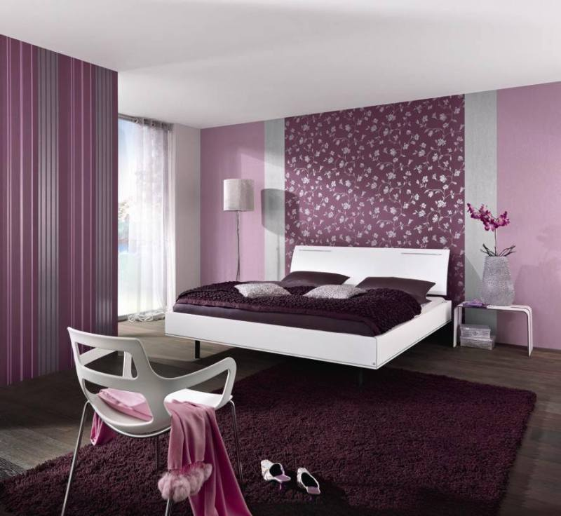 Ad Plum Bedroom Color Paint 34
