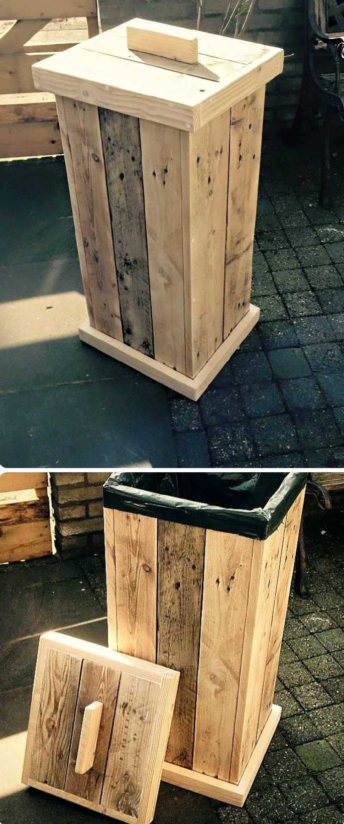kitchen cabinet with trash bin with Projects You Can Create Using Old Pallets on Outdoor Storage Bin additionally Euro Cargo 50 Waste Bin 70 Litres For Cabi  500 Mm Cabi also Hafele Pull Out Waste Bin 40 Litres moreover 321960926713 as well Brown Kitchen Trash Can With Lid Rattan Bathroom Trash Can Lid Fd4abb7532a60549.