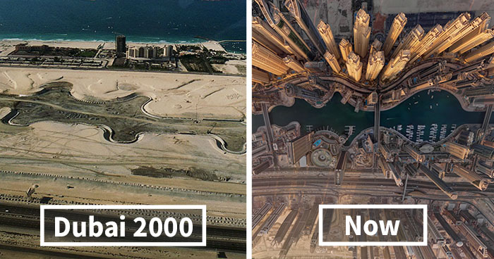 BeforeAndAfter Pics Showing How Famous Cities Changed Over Time - Before and after world
