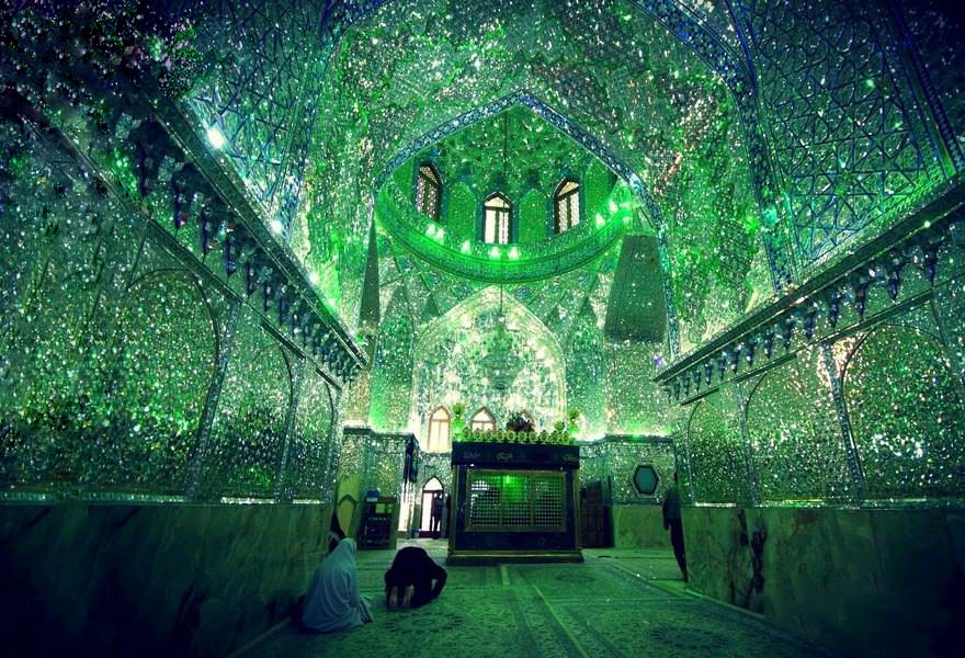 AD-Emerald-Tomb-Ceiling-Shah-Cheragh-Shiraz-Iran-02