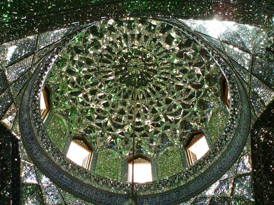 AD-Emerald-Tomb-Ceiling-Shah-Cheragh-Shiraz-Iran-07