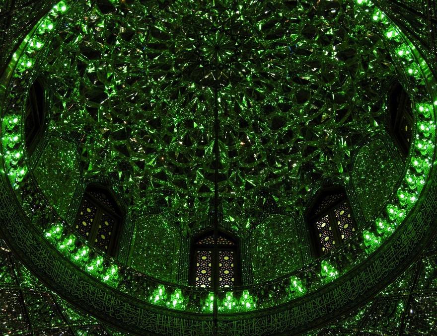 AD-Emerald-Tomb-Ceiling-Shah-Cheragh-Shiraz-Iran-10