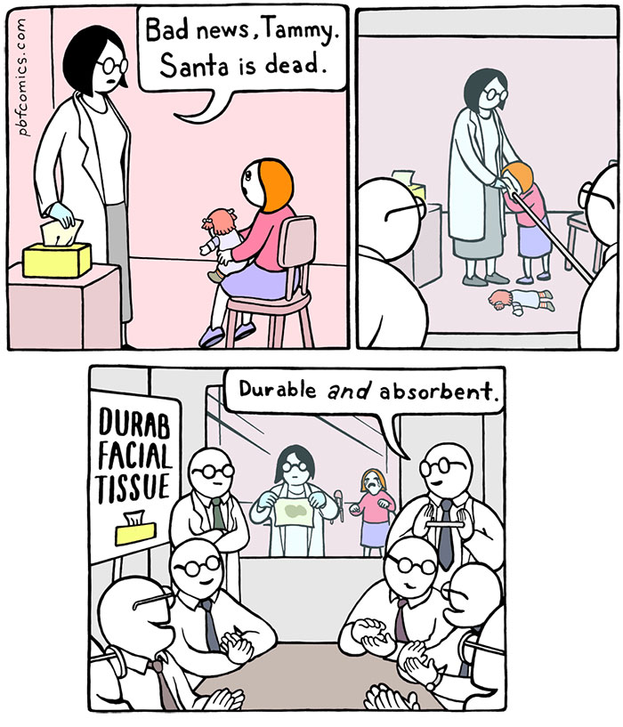 100+ Hilarious Comics With Unexpectedly Dark Endings By