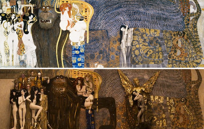 Gustav Klimt U2019s Paintings Get Recreated With Real