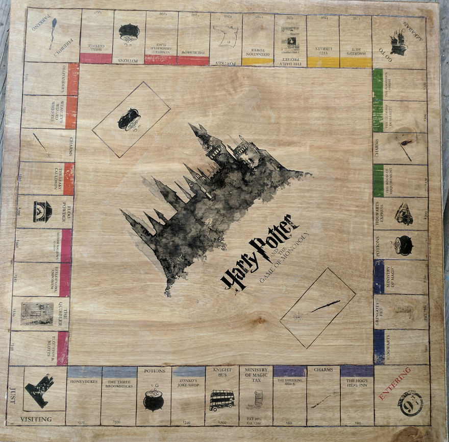 I Made A Harry Potter Monopoly Board For My Best Friend's