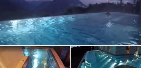 People are Calling This Rooftop Infinity Pool in the Swiss Alps the Stairway to Heaven
