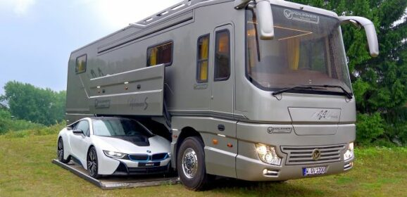 This $1.7 Million Motor Home With Its Own Garage May Look Like An Ordinary Bus From Outside, But Only Until You Step Inside