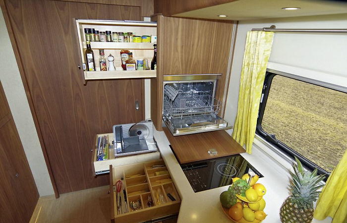 This https://cdn.architecturendesign.net/wp-content/uploads/2017/11/AD-Motorhome-Garage-Volkner-Mobil-Performance-s-12-05.jpg.7 Million Motor Home With Its Own Garage May Look Like An Ordinary Bus From Outside, But Only Until You Step Inside