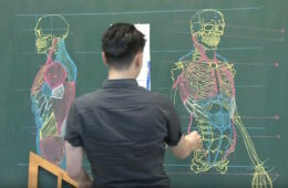 Taiwanese Teacher Uses Extraordinary Chalkboard Drawing Skills to Teach Students Anatomy