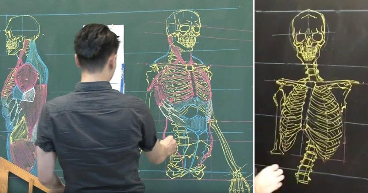 Taiwanese Teacher Uses Extraordinary Chalkboard Drawing Skills to ...
