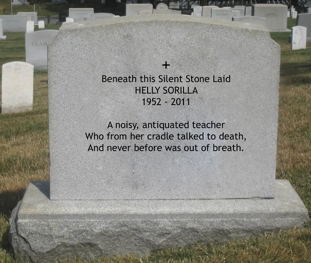 Tombstone Quotes Funny: 50+ Brilliant Tombstones By People Whose Sense Of Humor