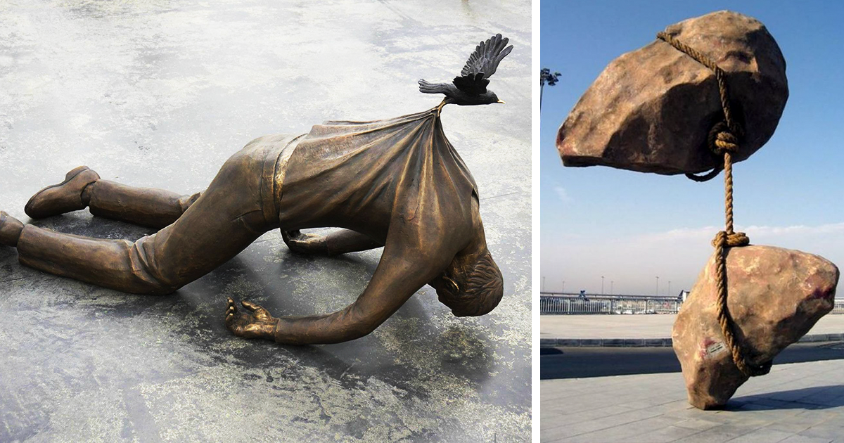 20 Gravity Defying Sculptures That Will Make You Look Twice
