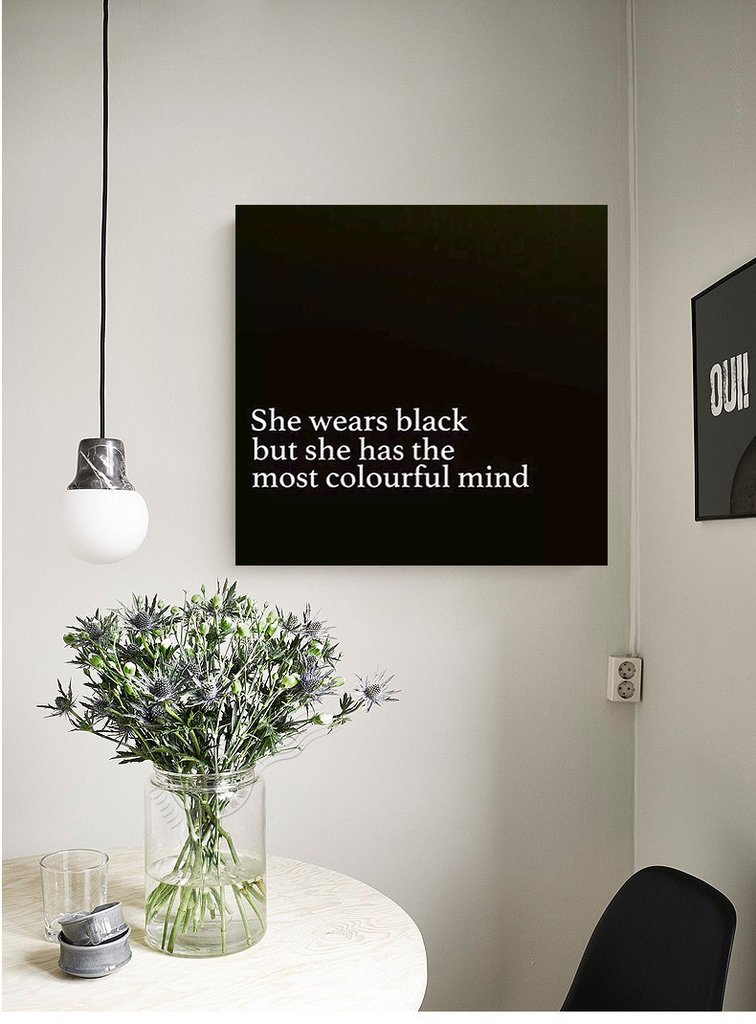 Great 08. She Wears Black But She Has A Colourful Mind