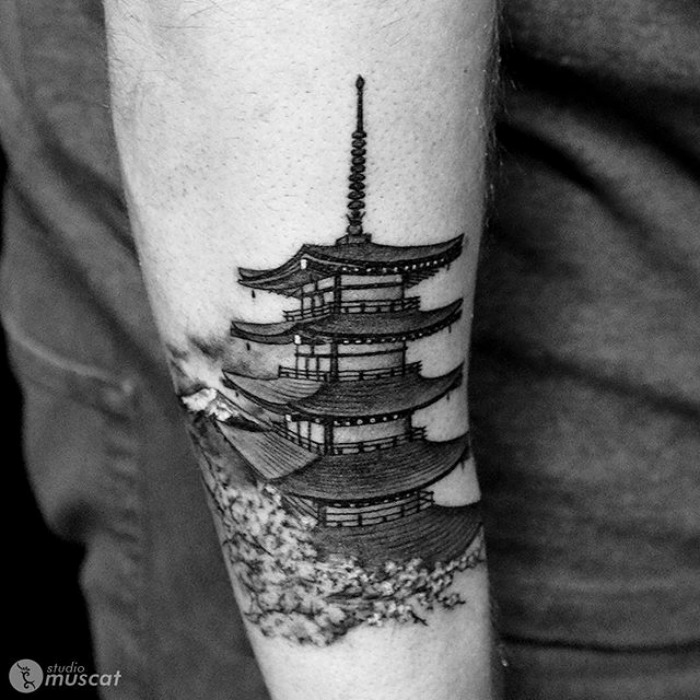 20 architecture tattoos that 39 ll make you want to get inked. Black Bedroom Furniture Sets. Home Design Ideas