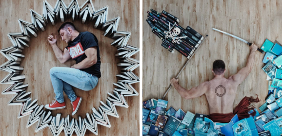 Book-Loving Guy Turns His Massive Library Into Art And His 120k Instagram Followers Approve