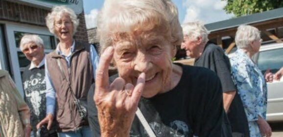 Two Elderly Dudes Escaped A Nursing Home And Went To A Heavy Metal Concert