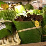 Innovative Supermarket Uses Banana Leaf Packaging To Avoid Plastics