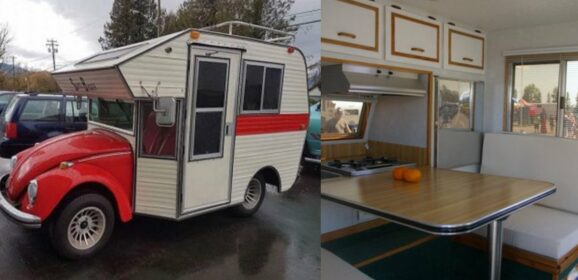 "These Volkswagen Beetles Converted Into RV Hybrids Called ""Bug Campers"""